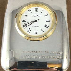 Natico Accessories - University of Oregon Alumni Desk Clock Paper Weigh